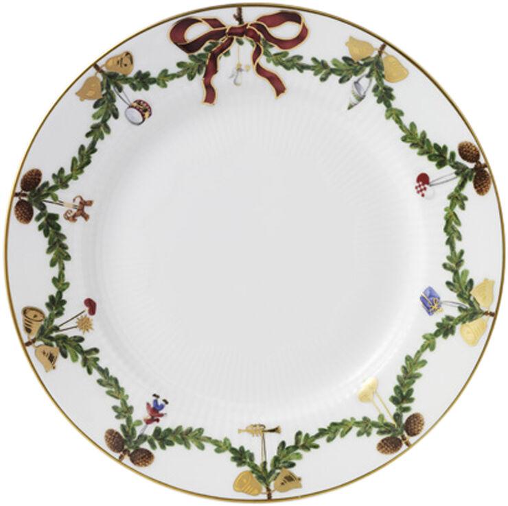 Stjerne Riflet Jul 19 cm. tallerken