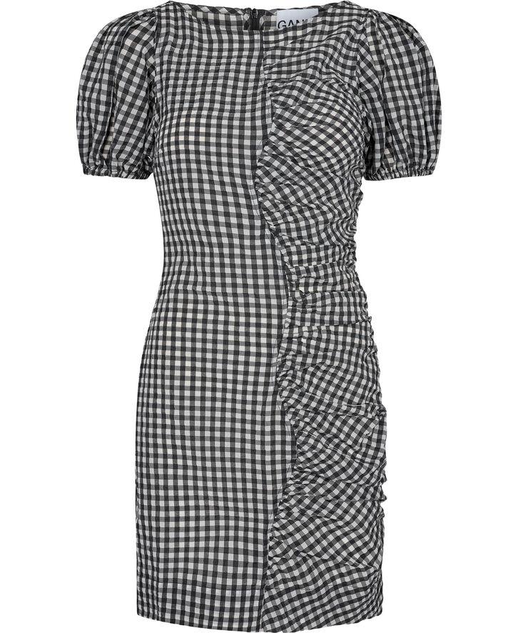 F6006 Ternet kjole med rynkeeffekt