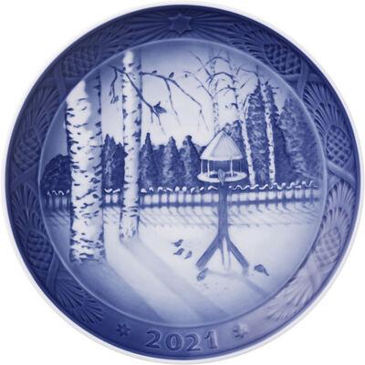 Royal Copenhagen Samlerartikler 2021 RC Juleplatte: Vinter i haven