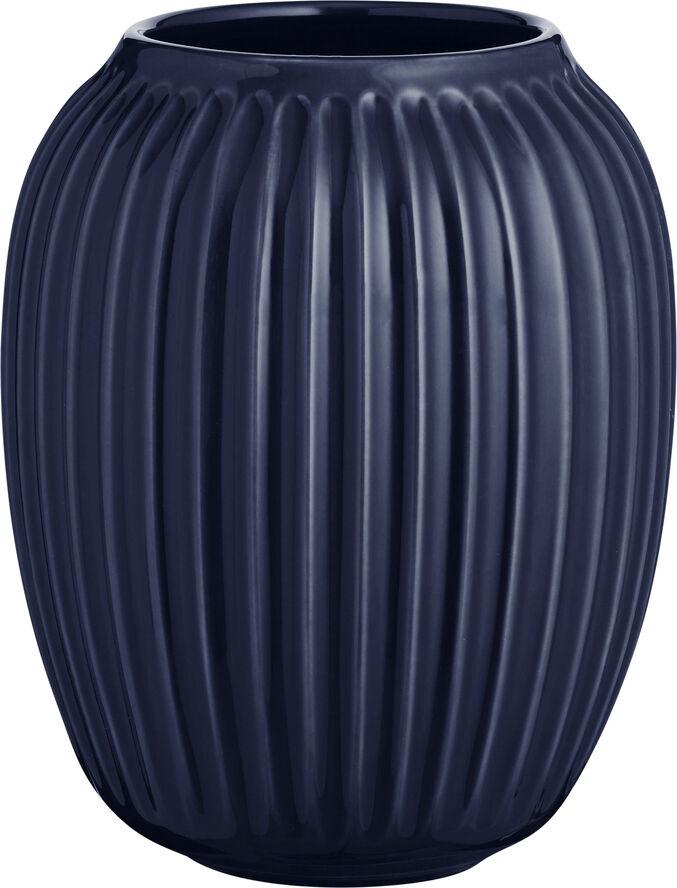 Hammershøi vase H20 Indigo