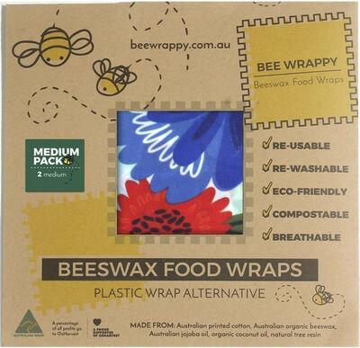 Be Wrappy Beeswax Food Wraps - 2 x Medium