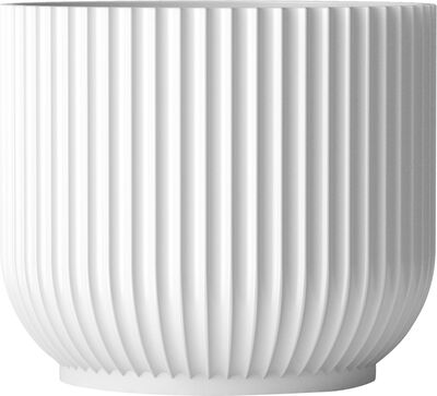 Flower pot small, white