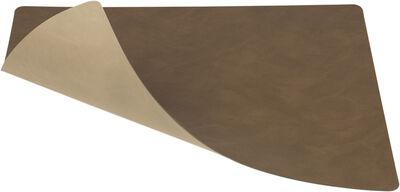 TABLE MAT DOUBLE SQUARE L 35x45CM DOUBLE CLOUD brown / NUPO