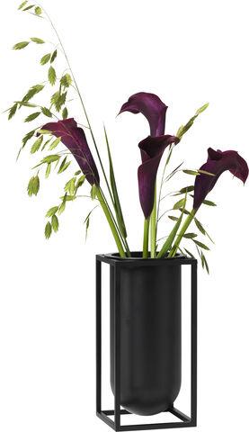 Kubus vase Lily, black