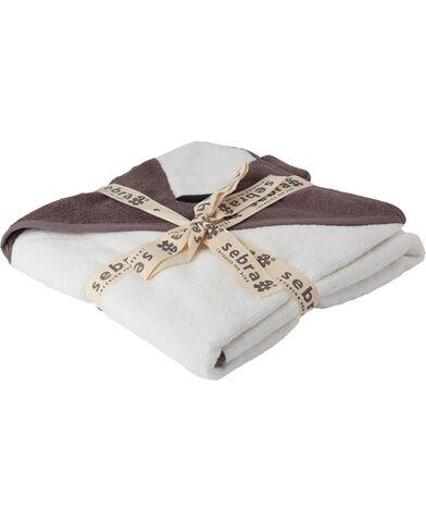 Hættehåndklæde, bjørnen Milo, Woodland, pinecone brown