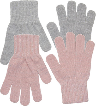 2-PACK GLOVES - 2 Colours w. Lurex