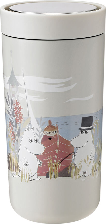 To Go Click d. steel, 0,4 l. - soft sand - Moomin