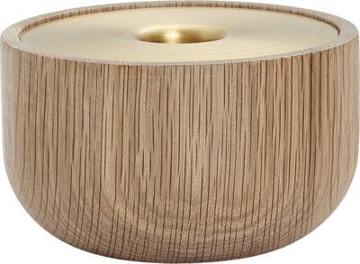 Oak Nordic candle holder - Medium - H6xØ10 cm