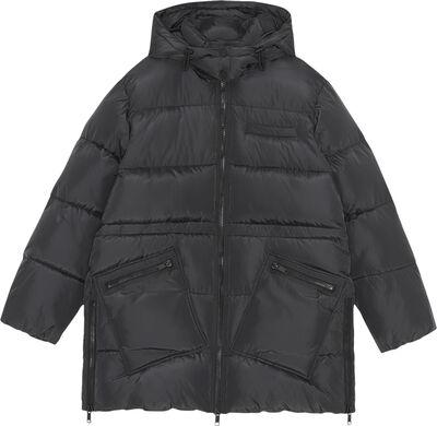 F6449 Oversize puf midi-jakke