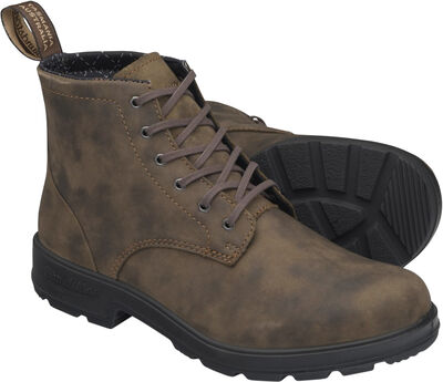 BL LACE UP LEATHER BOOT