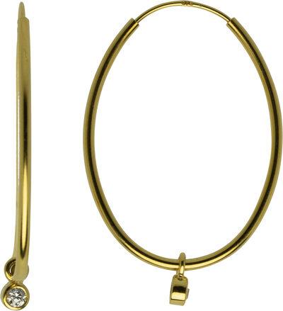 Classic Astrid øreringe. Diameter: 35 mm.