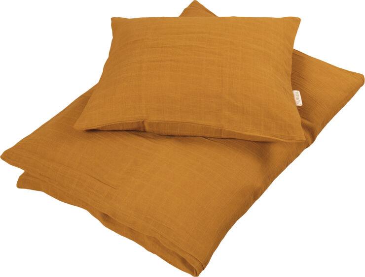 Babysengetøj GOTS - Muslin Golden Mustard