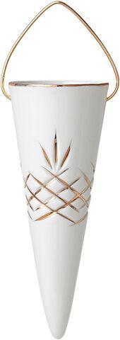 Crispy Holiday Porcelain Cone - 1 stk