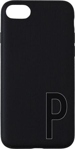 Personlig telefon cover, IPhone, sort, A-Z