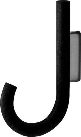 HOOKS Hanger Black Oak Black Chrome
