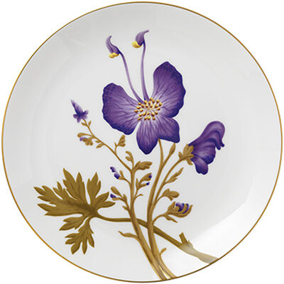 Flora 27 cm. tallerken - Stedmoderblomst