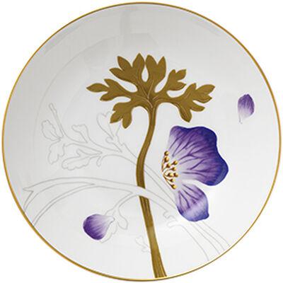 Flora 21 cm. tallerken - Stedmoderblomst