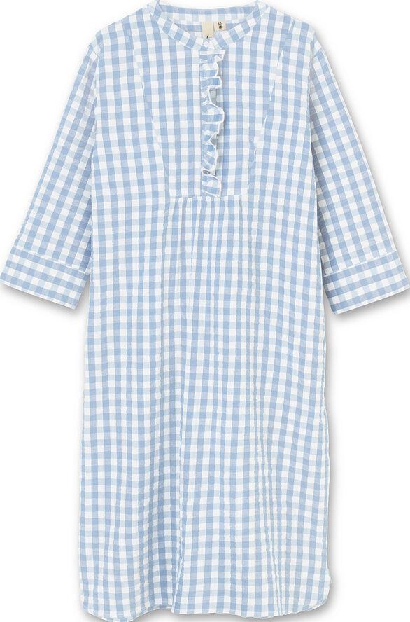 Bæk&Bølge Sonja dress lys blå/hvid XS