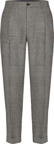 GLENCHECK PLEATED TAPERED PANT