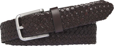 ROUND BUCKLE BRAIDED LEATHER 3.5