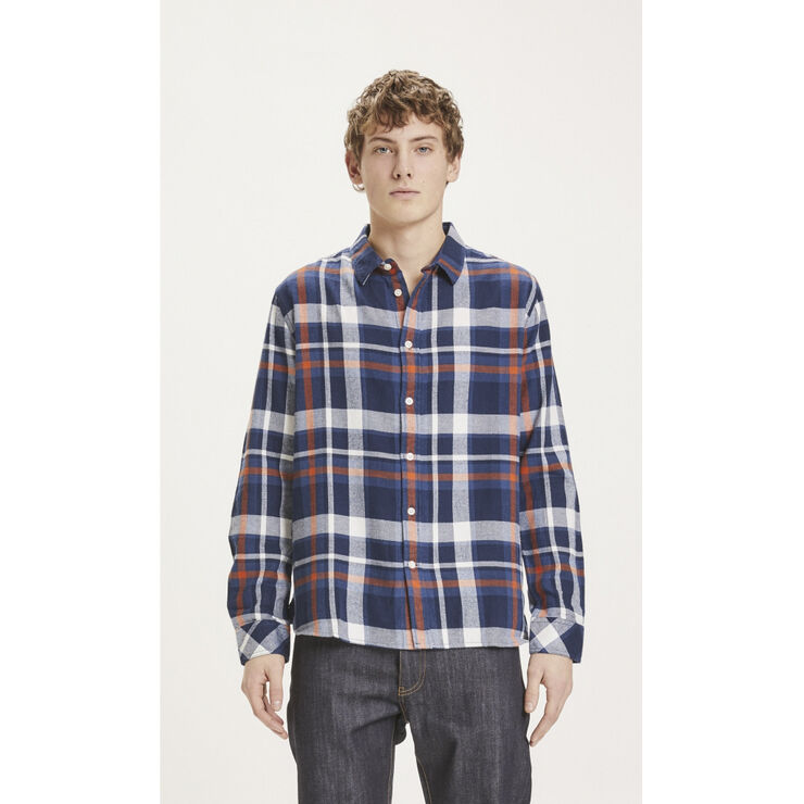 LARCH casual fit checked flannel shirt - GOTS/Vegan