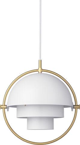 Multi-Lite Pendant - Small, Brass base, EU White Semi Matt