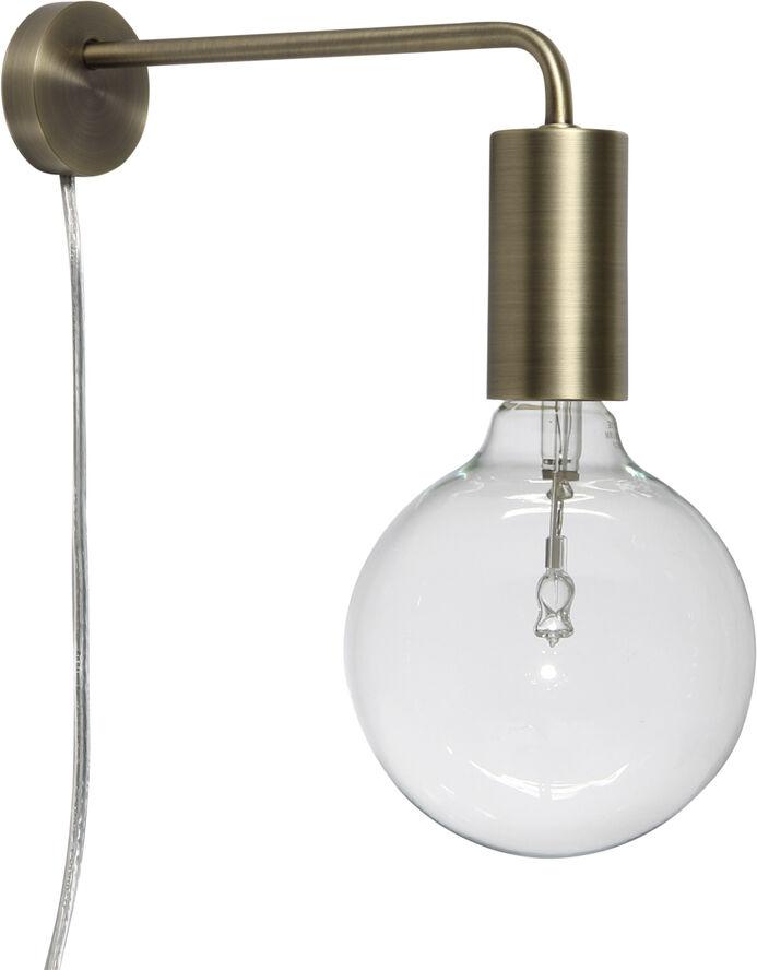 Cool væglampe mat antik messing