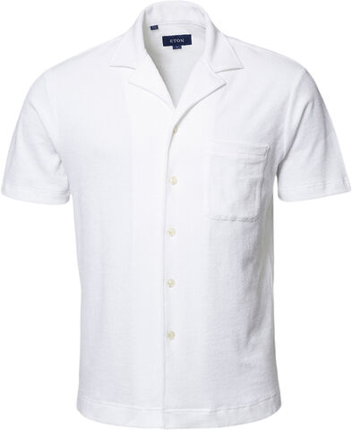 White Terry Resort Shirt - Relaxed Fit
