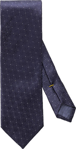 Midnight blue floral silk tie