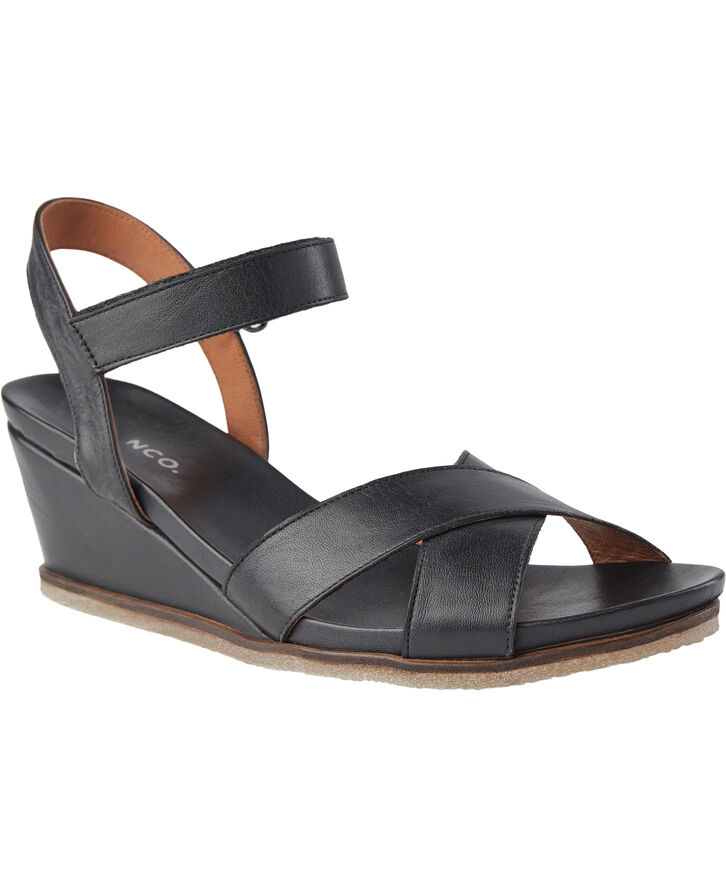 BIACAILY Leather Cross Sandal