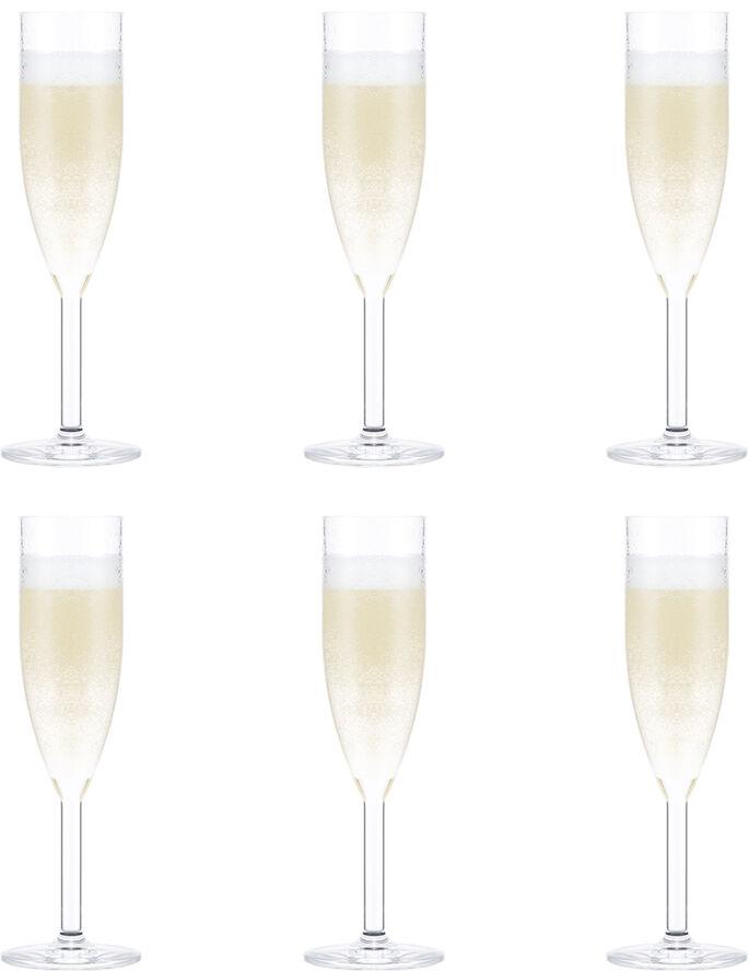OKTETT 6 stk. champagne glas