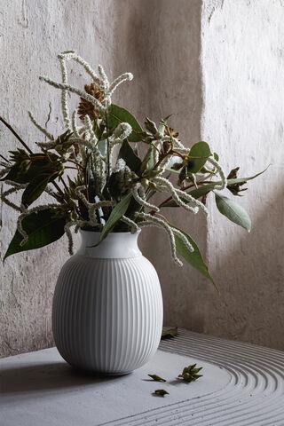 Lyngby Curve Vase H12 hvid håndlavet porcelæn