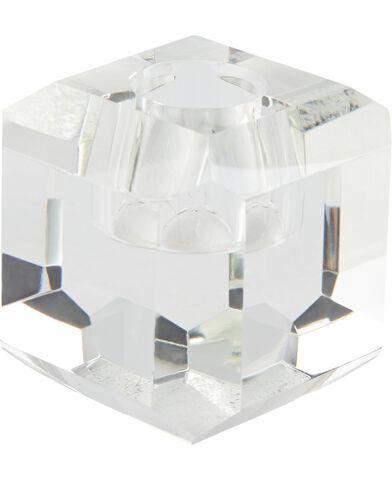 Lysestage 6x6x6 cm Clear