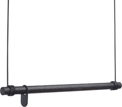 SWING L 110cm OAK black / LEATHER CORD black
