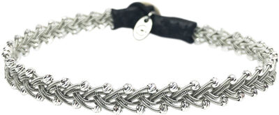 Maria Facet Silver Beads Black - Large