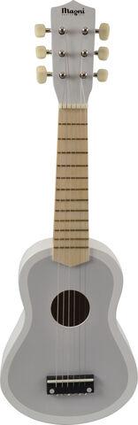Guitar i grå/hvid m 6 strenge