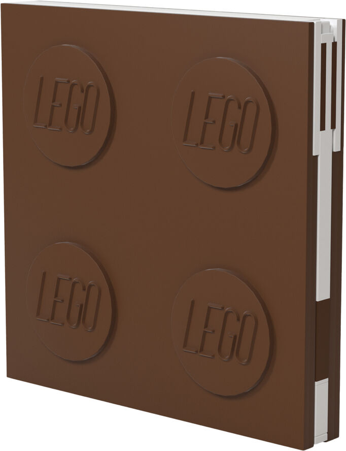 Locking note book, BROWN with gel pen