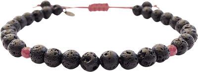 Malte Bracelet Lava/Ruby Jade