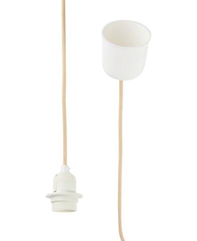 Textile Lampholder Set - Sand - E27