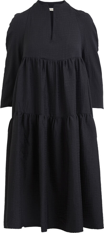 Basket jacquard dress