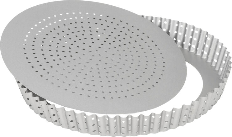 Silvertop tærteform perforeret 28 cm