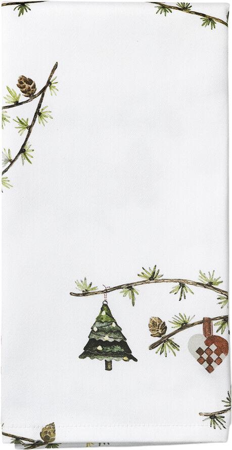 Hammershøi Christmas Stofserviet 45x45 cm hvid m. deko 4 stk