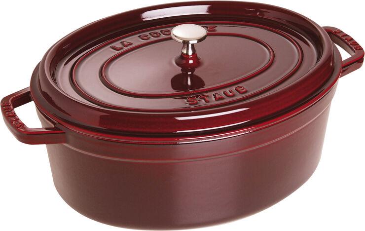 Oval Cocotte 31cm Grenadine red Staub