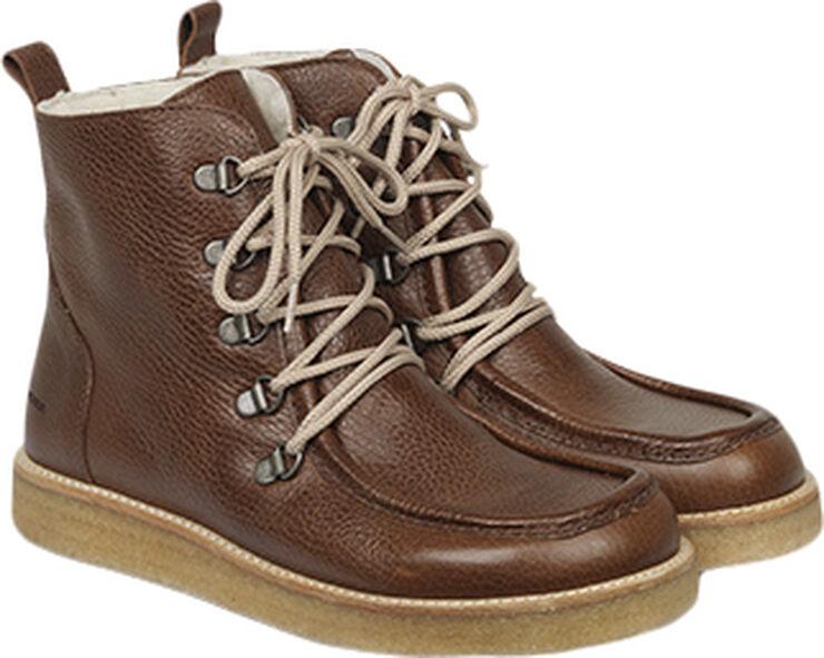 Støvle med uldfoer og bred pasform