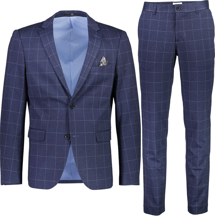 Checked knitted suit