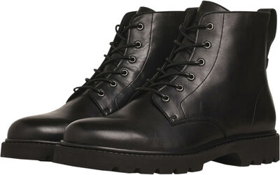 Lace Boot - Black Leather