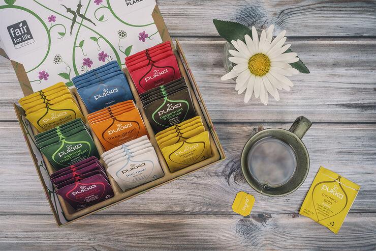 Pukka Selection Box - limited edition 45 breve - øko NY