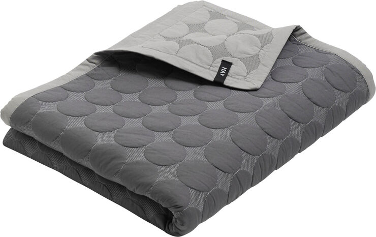 Mega Dot sengetæppe grå
