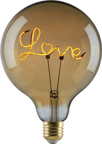 e3 LED Vintage G125 E27 Love-base down Golden, 1BX, spiral d
