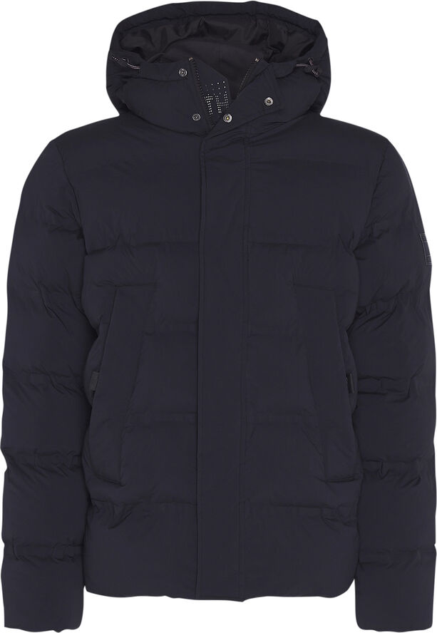 HOODED STRETCH BOMBER